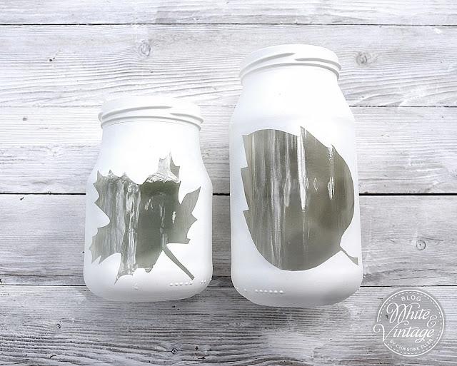 Marmeladenglas Deko - Windlicht für den Herbst