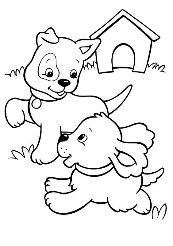 Dogs coloring pages 14