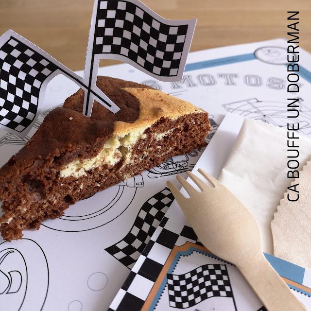 Recette gâteau marbré au chocolat anniversaire goûter ca bouffe un doberman