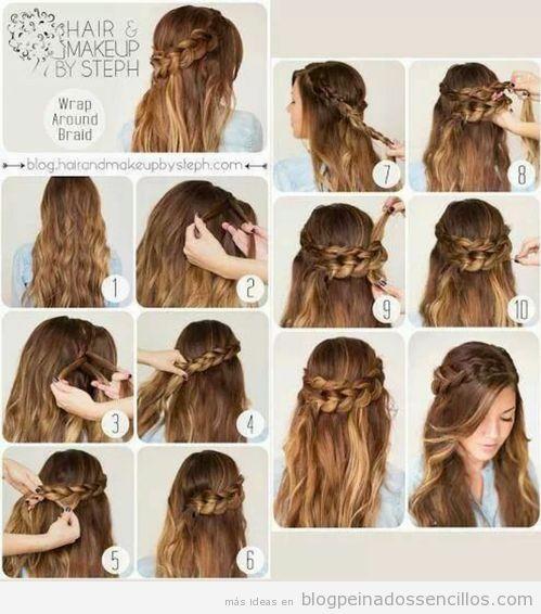 Peinados Paso A Paso Para Cabello Largo - Peinados Peinados con trenzas faciles paso a paso Peinados para