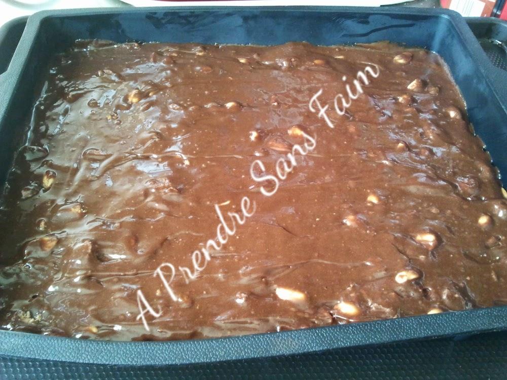 Brownies cacahuètes pépites de Reese's (pas à pas en photos)