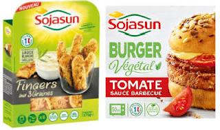 Sojasun Burger végétal  et fingers aux 3 graines 100% remboursés