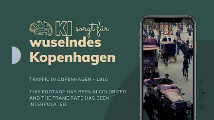 Wie 1916 der Straßenverkehr so in Kopenhagen war | Traffic in Copenhagen - 1916 | Back in Time