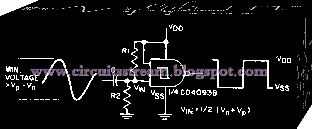 Sine wave-to-square wave converter Circuit Diagram