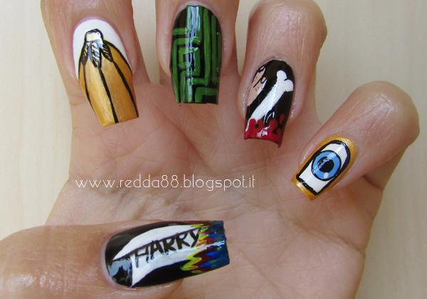 Harry Potter e il calice di fuoco nail art