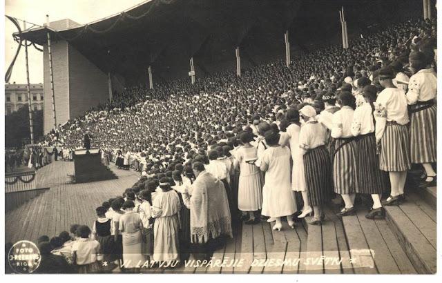 1926 год. Прадник песни в Латвии
