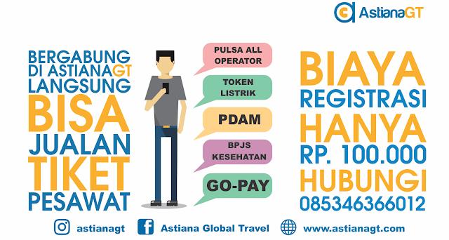 AstianaGT - Distributor tiket pesawat dan berbagai produk PPOB lainnya