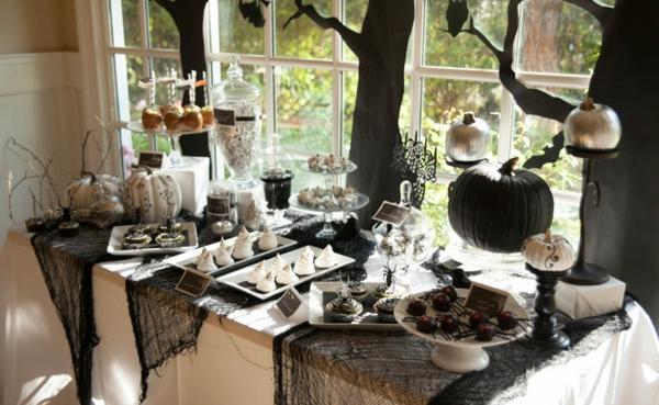 Decoração mesa halloween