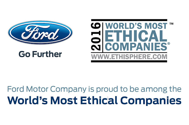 Ford on Ethisphere Institute's List of 2016 World's Most Ethical Companies