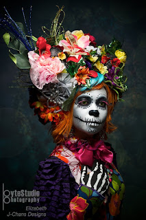 day of the dead makeup floral headpiece