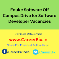 Enuke Software Off Campus Drive for Software Developer Vacancies