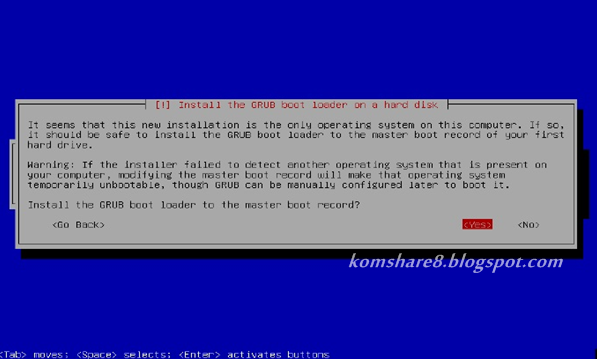 Instal Grub boot loader