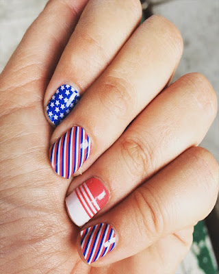 Nails Desings tumblr for day independence 4 of july