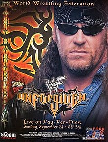 WWE / WWF Unforgiven 2000 - Event poster