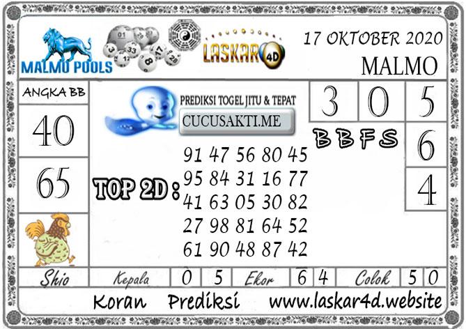Prediksi Togel MALMO LASKAR4D 17 OKTOBER 2020