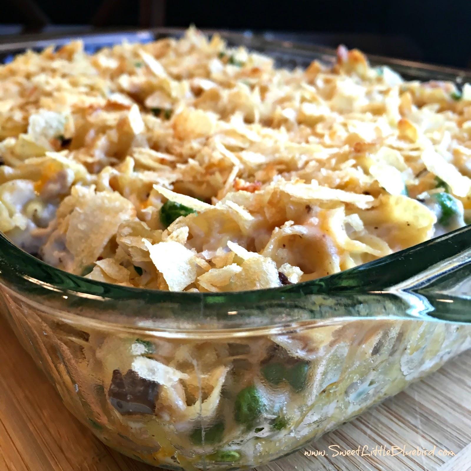 Old fashioned tuna noodle casserole sweet little bluebird for How to make tuna fish casserole
