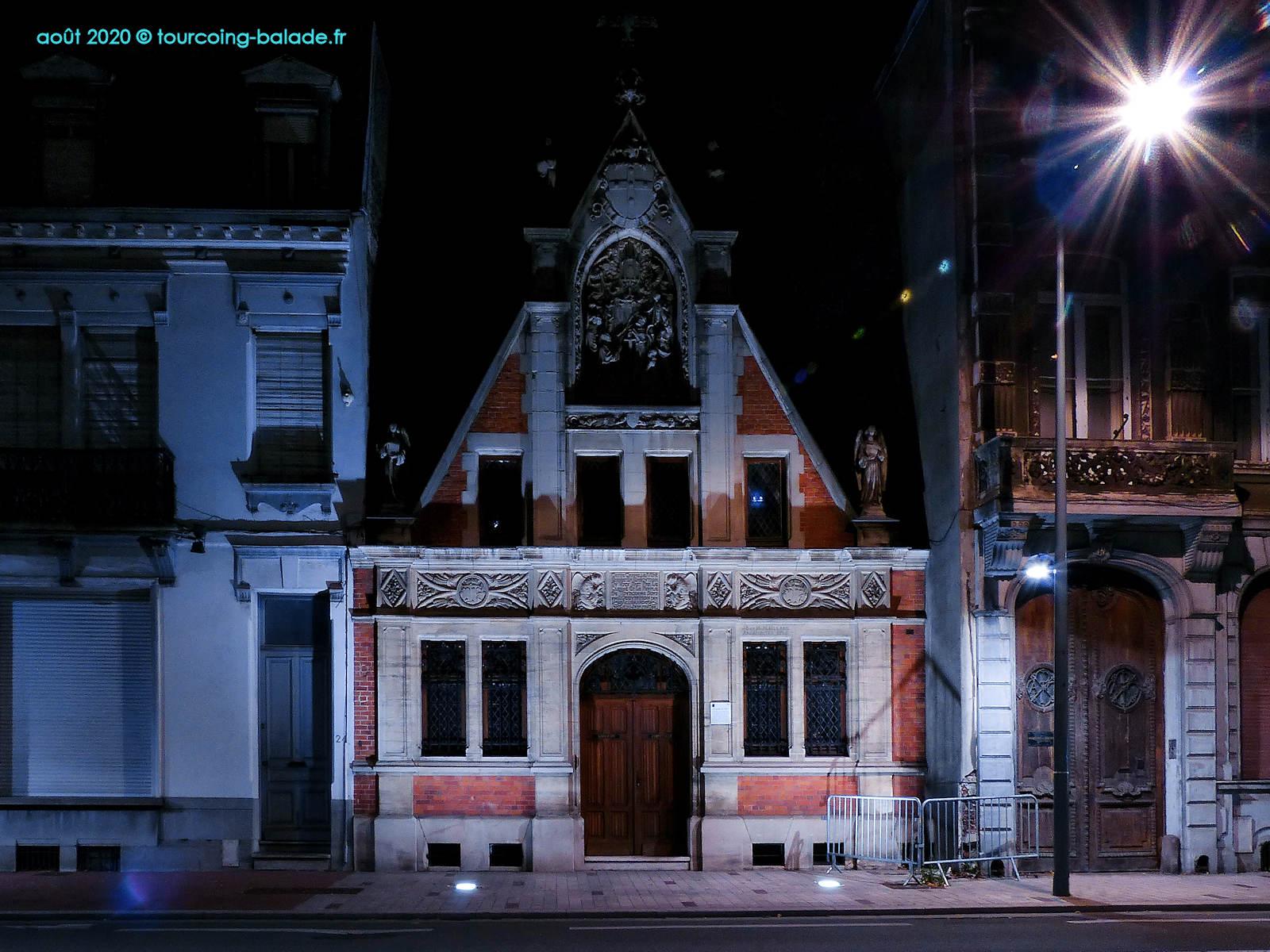 Chapelle du Voeu Tourcoing la nuit, 2020