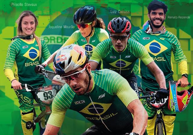 Ateltas do ciclismo brasileiro em Tóquio 2020 - Foto: CBC