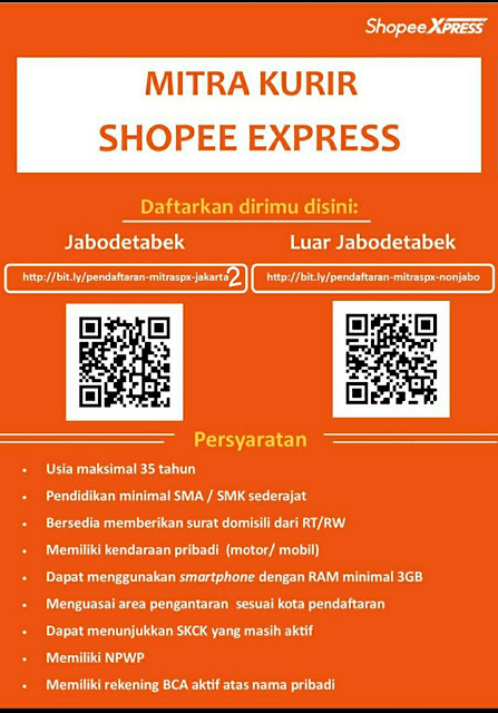 Lowongan Mitra Kurir Shopee Express Januari 2021 Informasi Politik Us