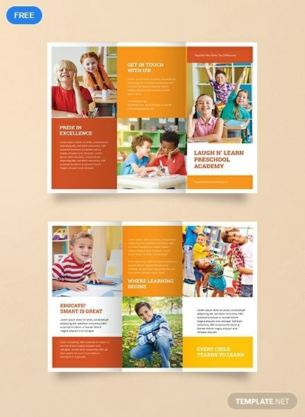 Preschool Colorful Brochure Sample