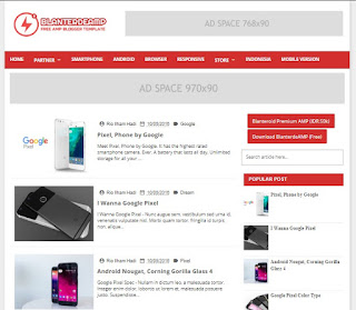Blaterde AMP Valid Blogger Templates - kanalmu