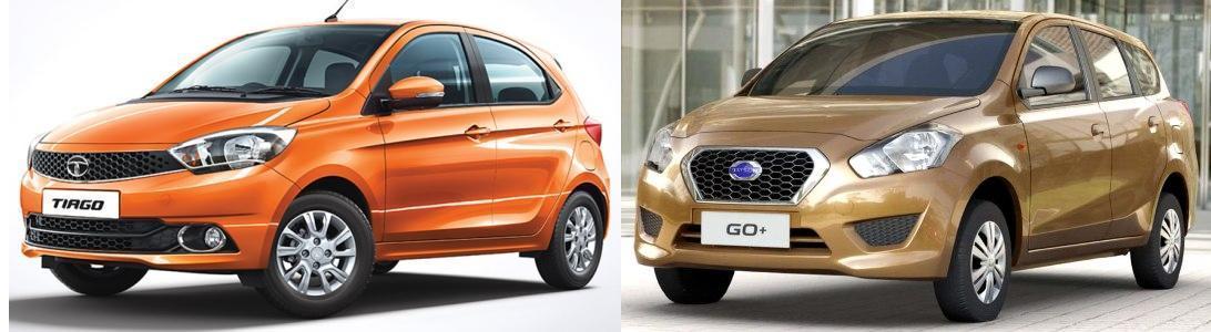 Tiago vs Datsun Go+ Comparison