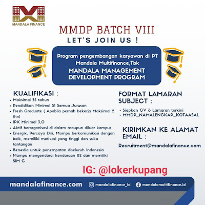 Lowongan Kerja Mandala Finance Sebagai Mandala Management Development Program