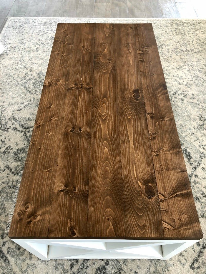 coffee table top stained
