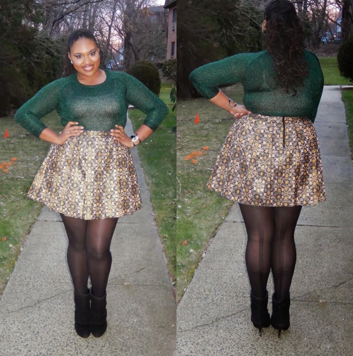35047717a424 Plus Size Skater Skirt Outfits - raveitsafe
