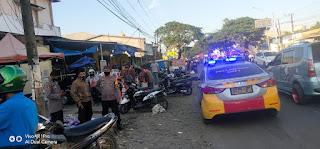 Personil Polsek Pallangga Urai Kemacetan Arus Lalulintas dan Pengamanan di Wilayahnya