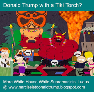 trump tiki torch mar a lago luau from hell southpark satan