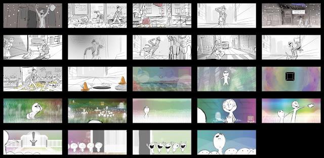Pixar Soul Storyboard Drawing