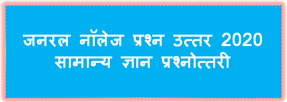 Gk Question In Hindi l Gktoday In Hindi l Current Affairs 2019 - 2020 In Hindi