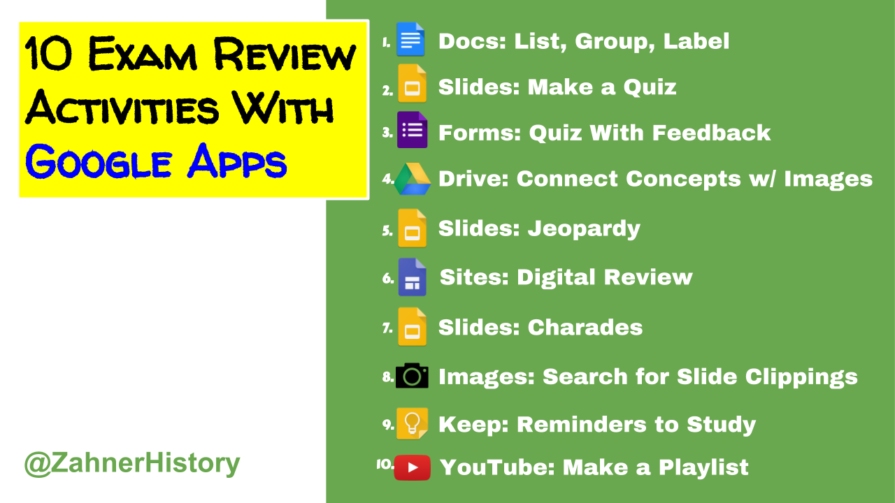 10 Exam Review Activities With Google Apps for Education