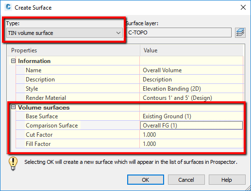 Create a Surface in Autodesk AutoCAD Civil 3D 2020