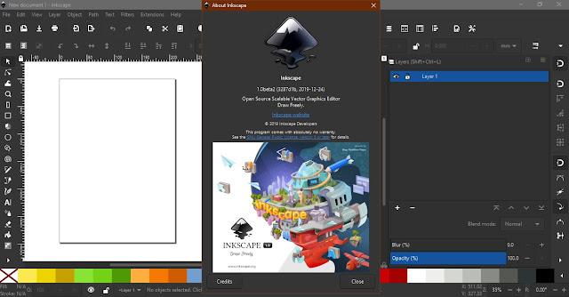 screen shot inkscape v1.0 beta on windows os