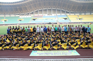 Wali Kota Bekasi Lepas Kontingen Atlet POPWILDA Jawa Barat 2019.