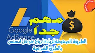 الطريقة الصحيحة لزيادة ارباح جوجل ادسنس ورفع سعر النقرة في google adsense