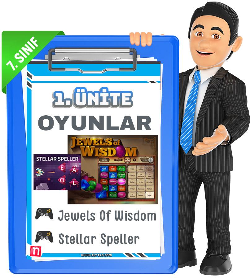 7. Sınıf İngilizce kelime oyunları