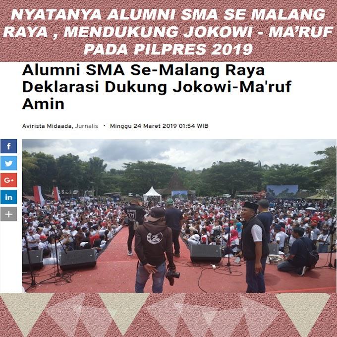 Info: Alumni SMA Se-Malang Raya Deklarasi Dukung Jokowi-Ma'ruf Amin