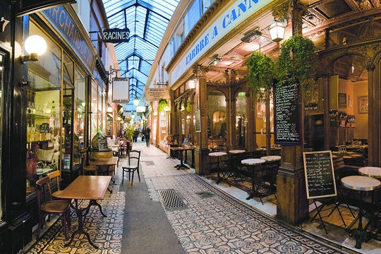 Caminhada em Passages em Paris