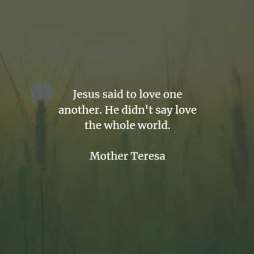 Famous quotes and sayings by Mother Teresa