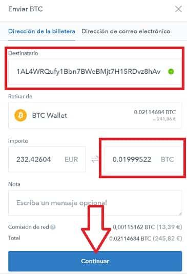 enviar bitcoin coinbase paso a paso fácil