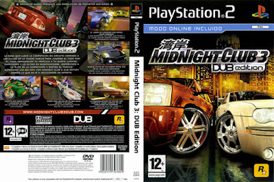 Descargar Midnight Club 3 DUB Edition para PlayStation 2 ROM en formato ISO región NTSC y PAL en Español Multilenguaje Enlace directo sin torrent. El nombre deriva de una asociación entre Rockstar y DUB, que toma mucha importancia en la trama del juego, en la forma de patrocinador de carreras y vehículos personalizados por DUB como premios.