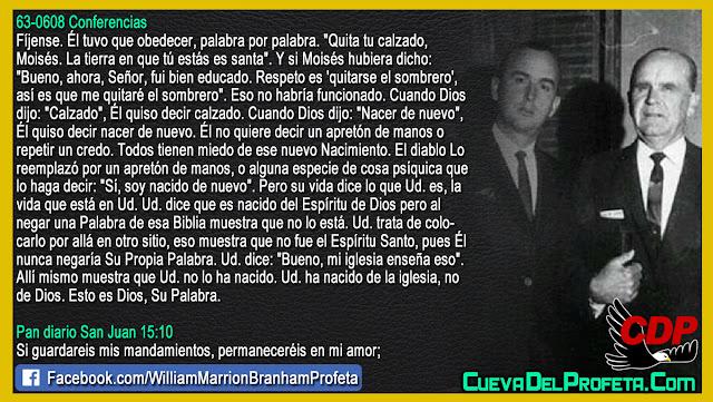 Mi iglesia enseña esto pero... - William Branham en Español