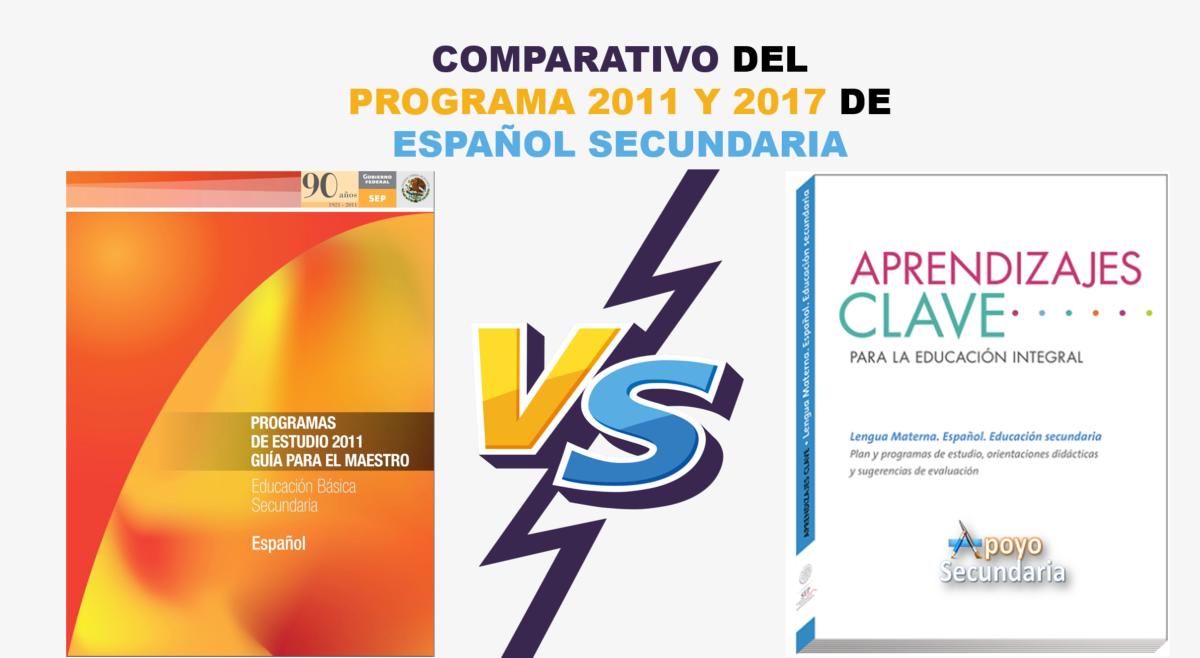 Comparativo del programa de estudios 2011 y 2017