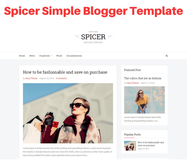 spicer simple blogger template, bootstrap blogger templates free download, bootstrap