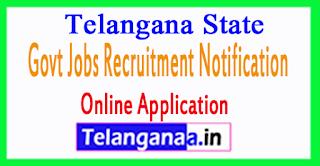 Telangana State Govt Jobs Recruitment Notification