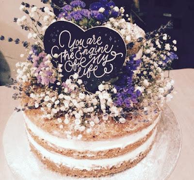 Lettering para tarta de boda