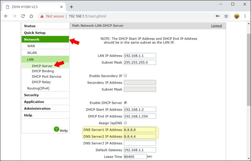 كيفية إضافة عنوان Dns مخصص للراوتر Tp Link و Te Data